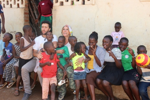 Patricia, Kiko and some of the children